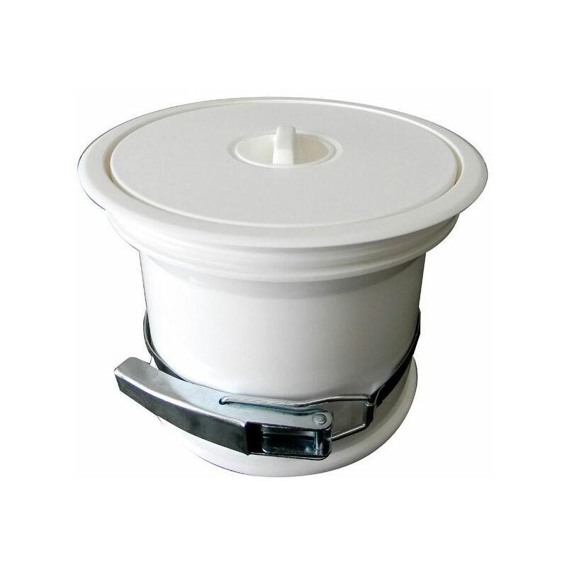 ITAR Vide-ordures pour plan de travail avec couvercle en pvc - Décor : Blanc