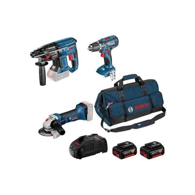 BOSCH Kit 3 outils 18V (GSR+GWS+GBH) sac - KIT3OUT18V4 - 0615990M0W