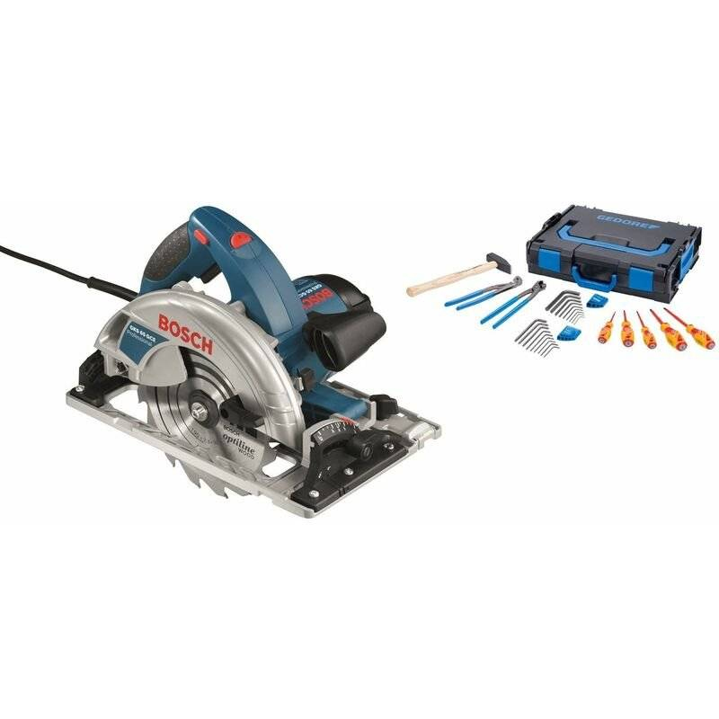 Bosch GKS 65 GCE Scie circulaire dans L-Boxx - 1800W - 190mm Gedore