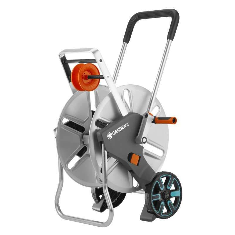 GARDENA Dévidoir sur roues Aquaroll L Easy Metal GARDENA - 18550-20