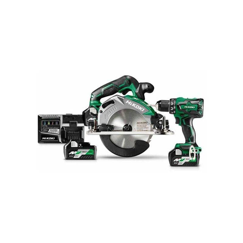 HiKOKI C3606DAW2PZ - Set Multivolt Li-Ion 18/36V - scie circulaire &