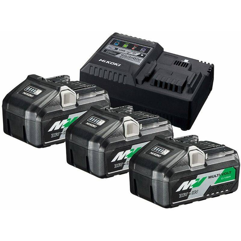 HiKOKI UC18YSL3WB3 Boosterpack Multi-Volt - (3 x 8Ah) 18 V - 4Ah 36 V