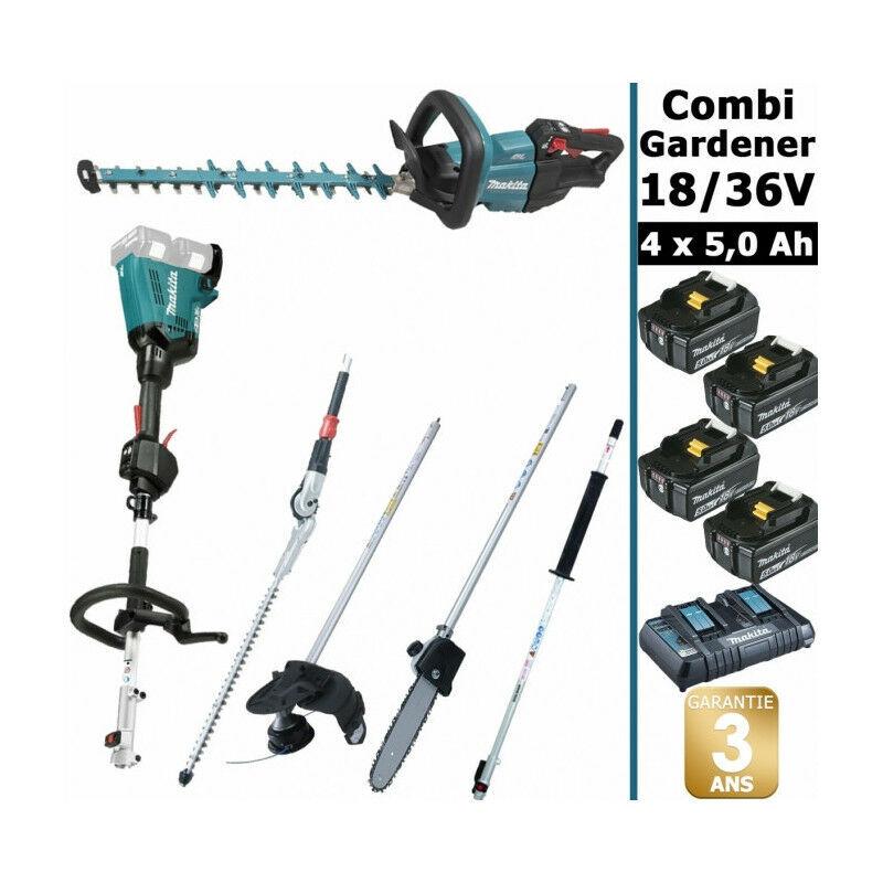 MAKITA Pack 18/36V Combi Gardener: outil multifonction 36V avec 4 accessoires