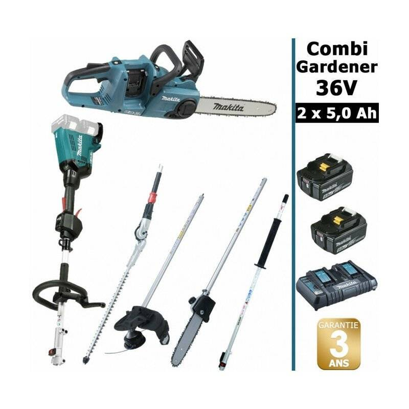 MAKITA Pack 36V Combi Gardener: outil multifonction 36V avec 4 accessoires +