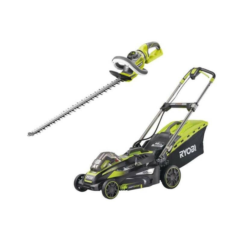 RYOBI Pack taille-haies 36V RHT36X60R - tondeuse tractée 36V LithiumPlus - 1