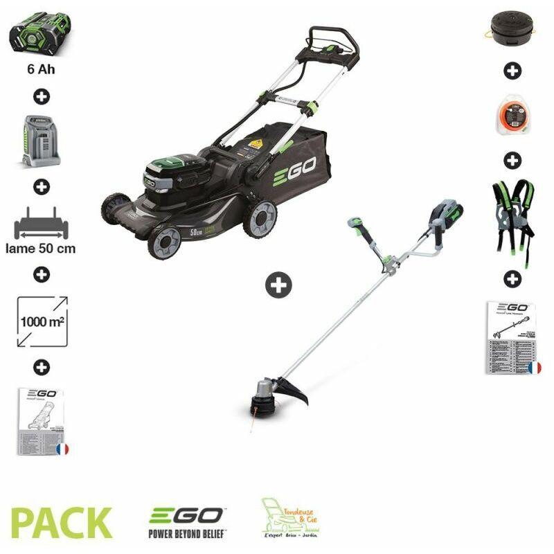Ego Power+ - Pack tondeuse à batterie 6AH LM2024E et coupe bordure EGO