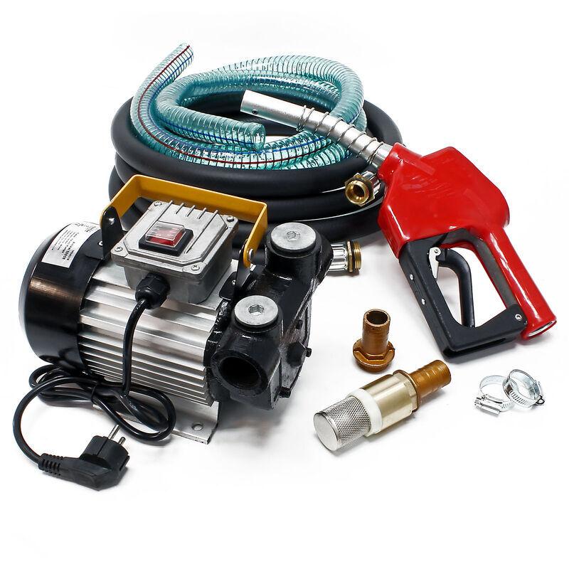 WILTEC Pompe à Fuel ou Gasoil bio Autoaspirante 230V/550W 60l/min Mobile