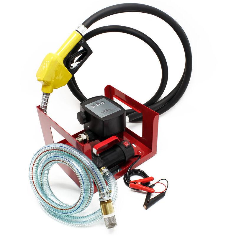 WILTEC Pompe à Fuel ou Gasoil bio Autoaspirante 24V/150W 40l/min Mobile