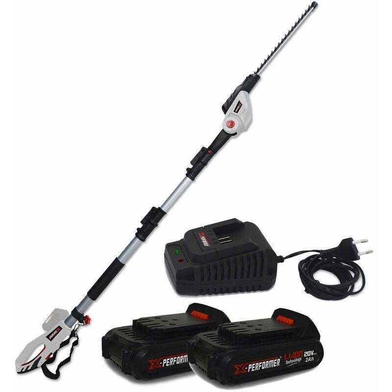 X-performer – Scie à Ebrancher Taille Haies sur perche 20V – Xperformer XP2PSTH20LI – Outil portatif – 2 Batteries 2Ah et chargeur inclus