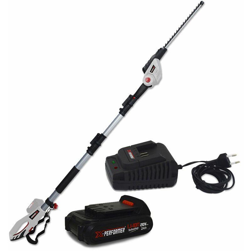 X-performer – Scie à Ebrancher Taille Haies sur perche 20V – Xperformer XP2PSTH20LI – Outil portatif – Batterie 2Ah et chargeur inclus