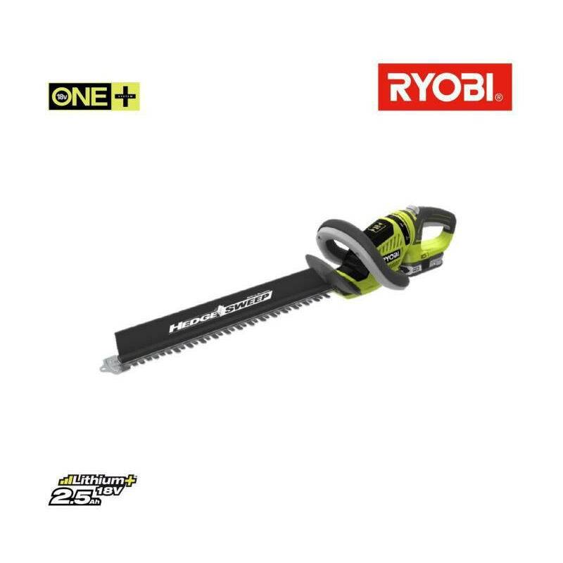 RYOBI Taille-haies 18V - 50 cm - 1 batterie 2,5 Ah - RHT1851R25F