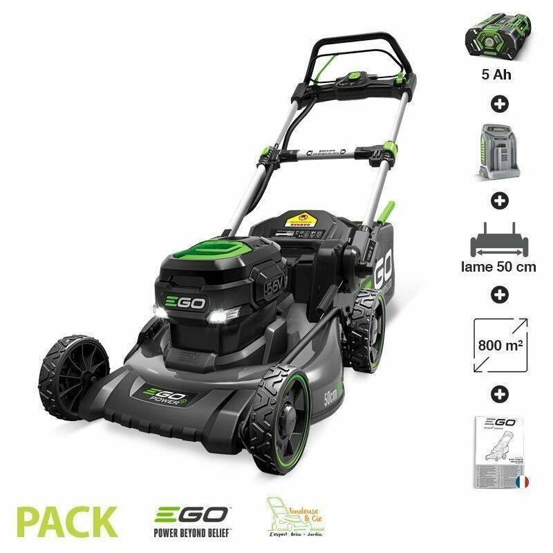 Ego Power+ – Tondeuse gazon batterie Tractée Egopower carter acier 50 cm Batterie 5 Ah et chargeur rapide inclus LM2021-SP