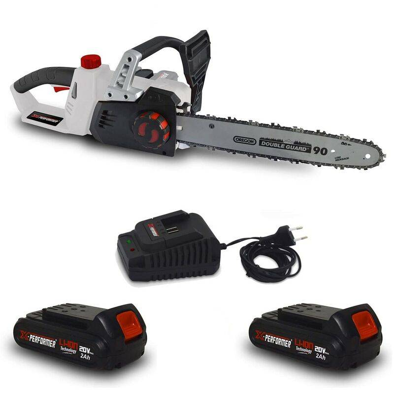Tronçonneuse 40V (2x20V) XPTRO40LI-2B – Double Sécurité – Graissage Auto + 2 Batteries 2 Ah – chargeur – X-performer