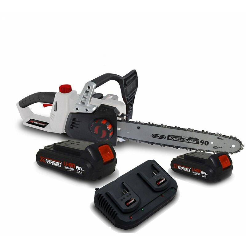 Tronçonneuse 40V (2x20V) XPTRO40LI-2B – Double Sécurité – Graissage Auto + 2 Batteries 2 Ah – Double chargeur – X-performer