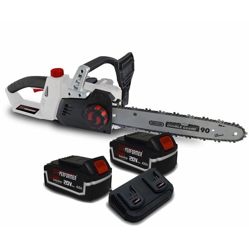 Tronçonneuse 40V (2x20V) XPTRO40LI-2B – Double Sécurité – Graissage Auto + 2 Batteries 4 Ah – Double chargeur – X-performer