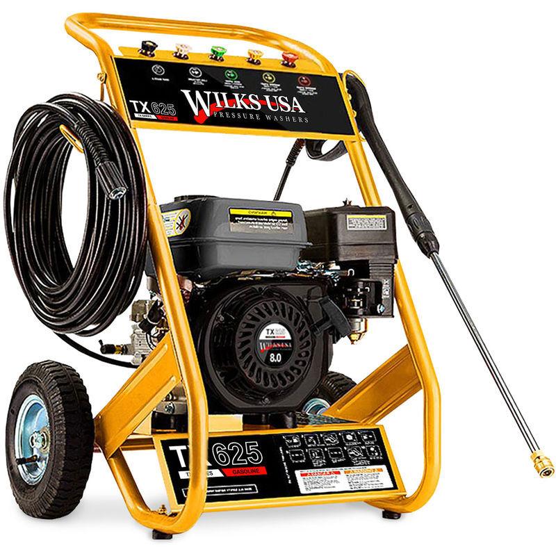 Wilks-USA TX625 – 8,0 hp – 3950 psi / 272 Bar Nettoyeur Haute Pression avec Moteur à Essence