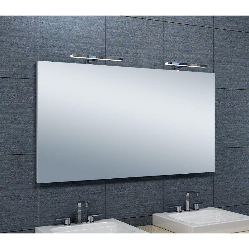 PRADEL Miroir de salle de bains avec spot LED Horizontale - 65 cm x 120 cm