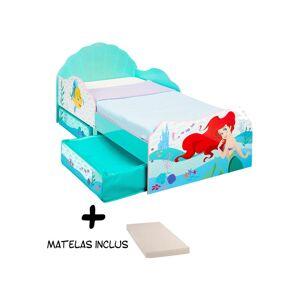 Bebegavroche - Lit enfant avec tiroirs de rangement Princesse Ariel - Publicité