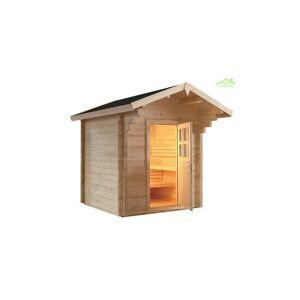 SENTIOTEC Cabine de Sauna de jardin COUNTRY de 230x230 cm - Sentiotec - Publicité