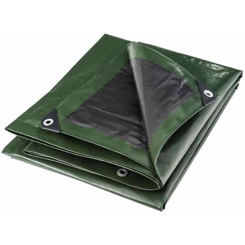 WERKAPRO Bâche multifonctions noire et verte 240 g/m2 Werkapro 10 x 15 m