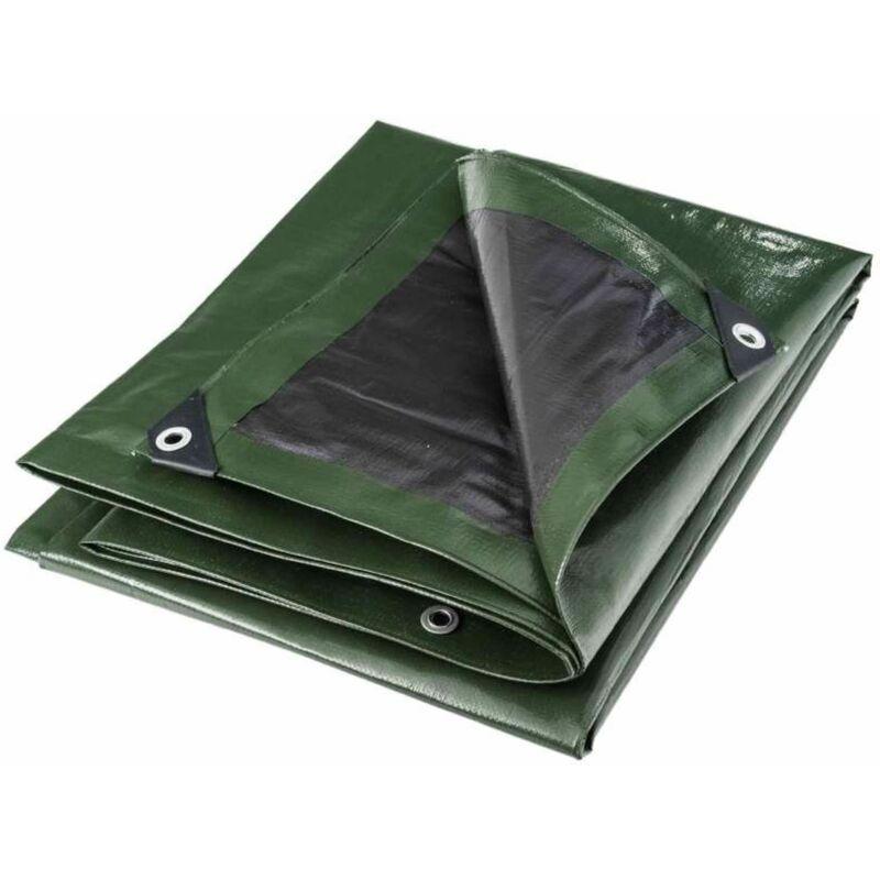 WERKAPRO Bâche multifonctions noire et verte 240 g/m2 6 x 10 m - Werkapro