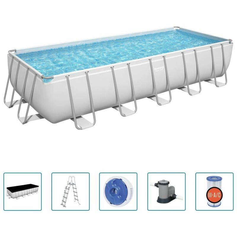 BESTWAY Piscine hors-sol rectangulaire Power Steel 19281 L - Bestway