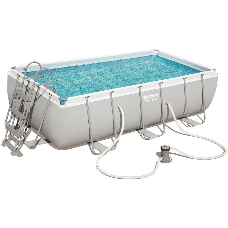 BESTWAY Kit piscine tubulaire Bestway POWER STEEL FRAME POOL rectangulaire 404