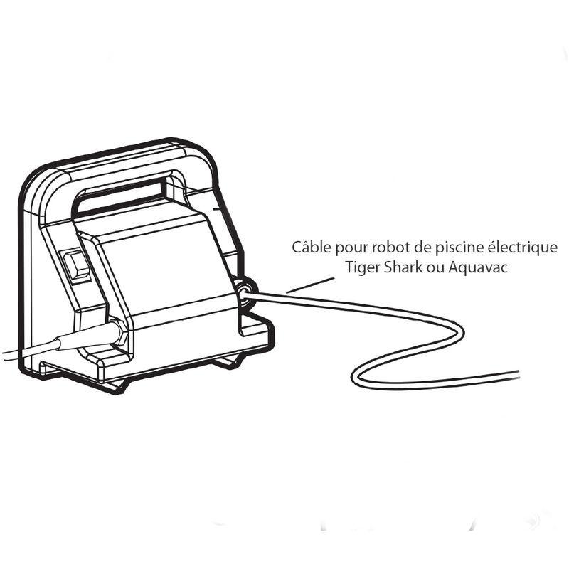 HAYWARD Câble pour robot de piscine électrique Tiger Shark ou Aquavac - Hayward