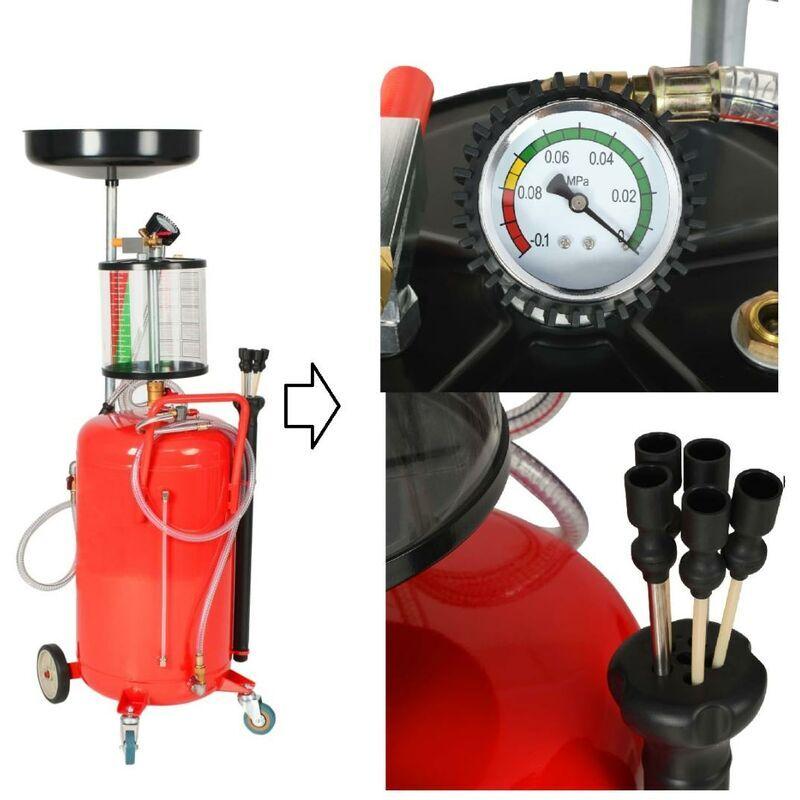 BIG B GLS Chariot Extracteur / récuperateur d'huile pneumatique 70L - BIG B GLS