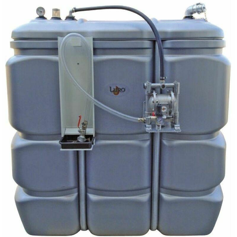 LURO Cuve 1500 litres équipée huiles usées avec pompe à membrane - Luro