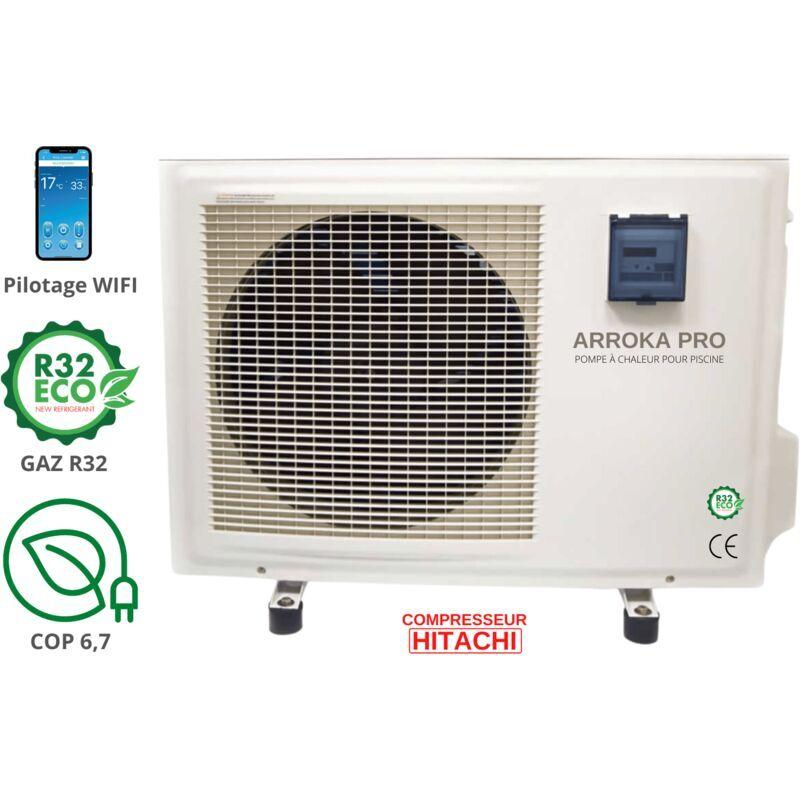 BYPISCINE Pompe à chaleur piscine - jusqu'à 95 m3, R32, COP 6.78, réversible,