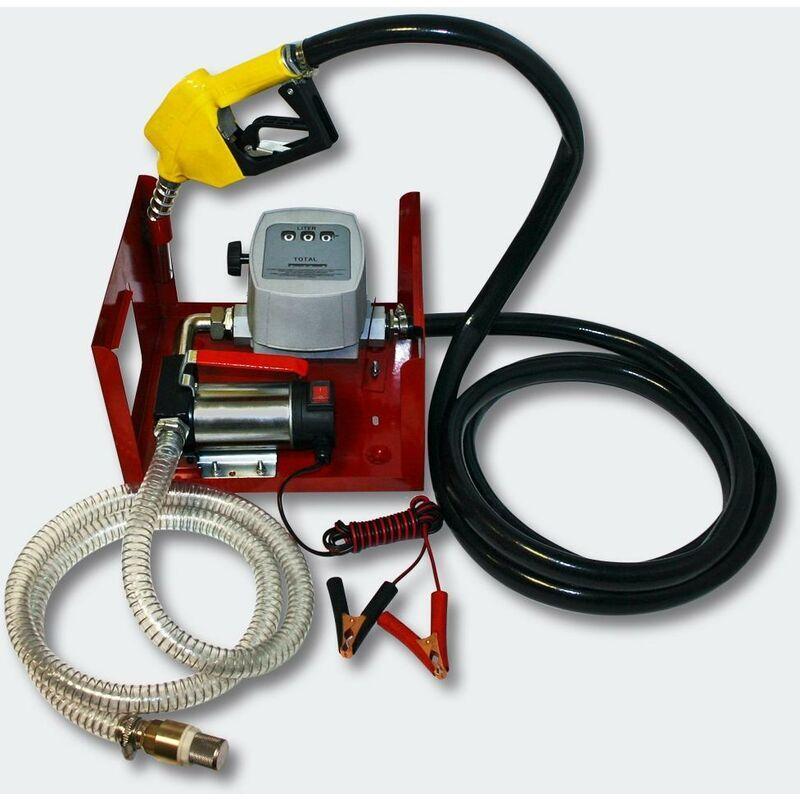 HELLOSHOP26 Pompe à Fuel Gasoil bio Autoaspirante 24V/150W 40l/min Pistolet Auto