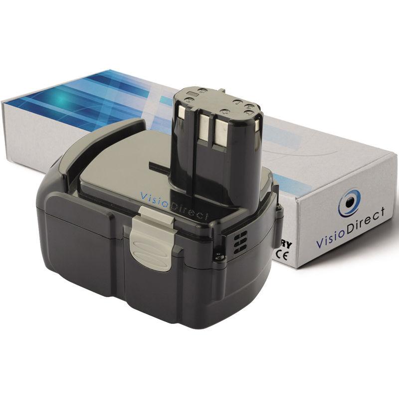 VISIODIRECT Batterie pour Hitachi CJ18 DLP4 C Series C 18DL C 18DLX C 18DMR 3000mAh
