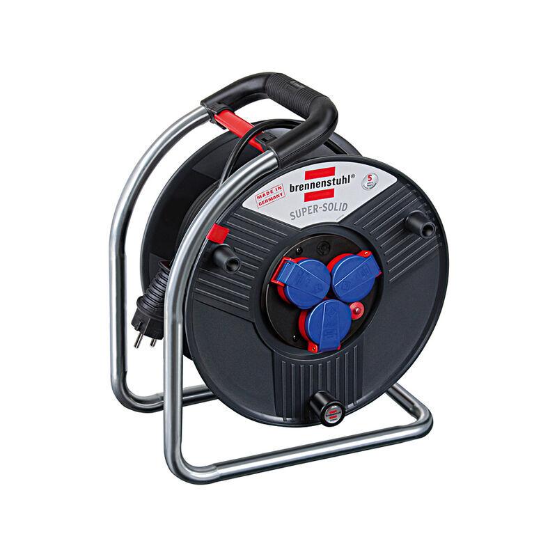 BRENNENSTUHL 1308910 - Enrouleur électrique Super-Solid IP44 - H07RN-F 3G2,5 - 25m