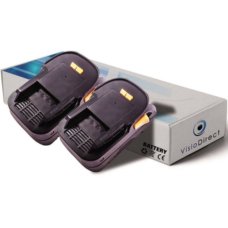 VISIODIRECT Lot de 2 batteries pour AEG BST18X scie sauteuse pendulaire 3000mAh 18V