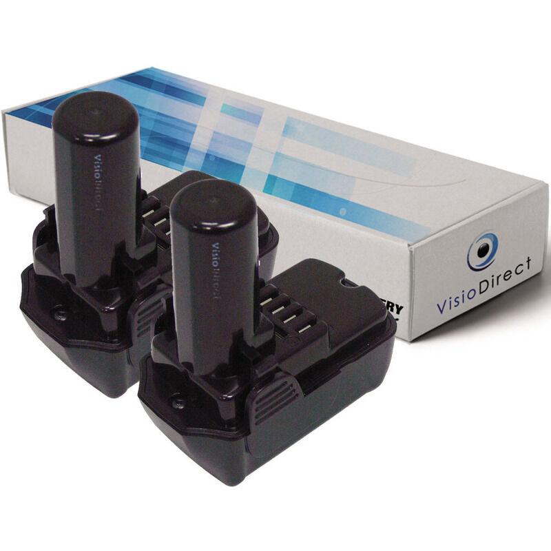 VISIODIRECT Lot de 2 batteries pour Hitachi CJ10DL scie sauteuse 1500mAh 10.8V