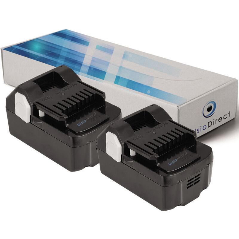 Visiodirect - Lot de 2 batteries pour Hitachi CJ18DSLP4 scie sauteuse