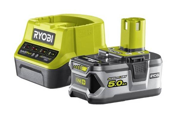 Ryobi - Chargeur rapide 2,0A et batterie Lithium+ 18V 5Ah One+