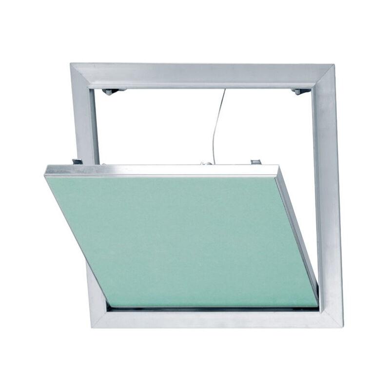 PLACO® Trappe de visite en aluminium et plaque de plâtre hydrofuge 200*200 mm