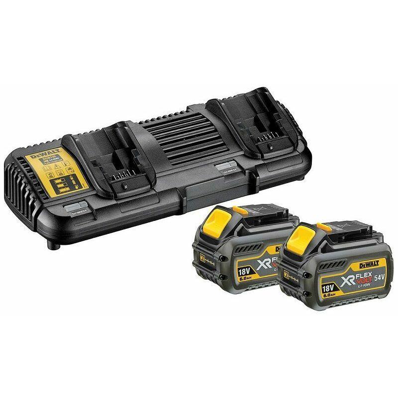 DeWALT 54V/108 Wh XR FLEXVOLT Batterie-Starter-Set, 2x batterie, Double