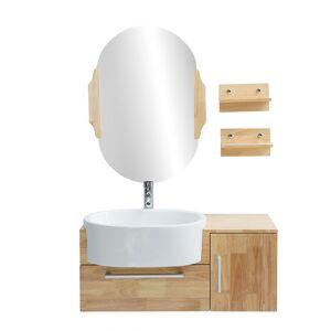 MILIBOO Meuble de salle de bain : vasque, meuble sous-vasque, étagères et - Publicité