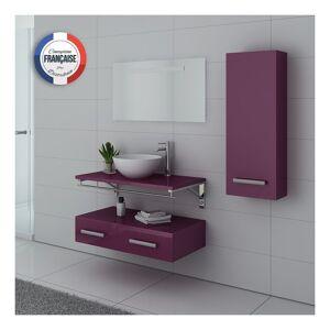 DISTRIBAIN Meuble de salle de bain Aubergine VIRTUOSE - DISTRIBAIN - Publicité