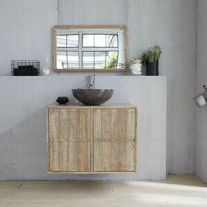 Bois Dessus Bois Dessous - Meuble de salle de bain en bois d'hévéa - Publicité