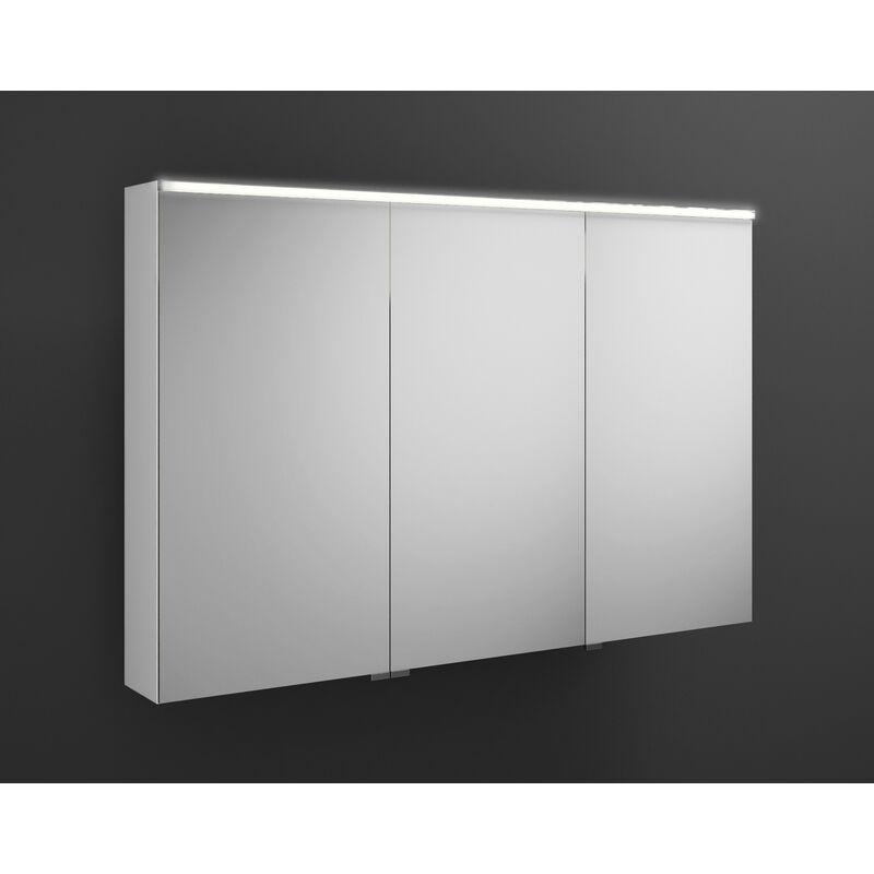 BURGBAD Armoire de toilette Burgbad Eqio avec éclairage LED horizontal,
