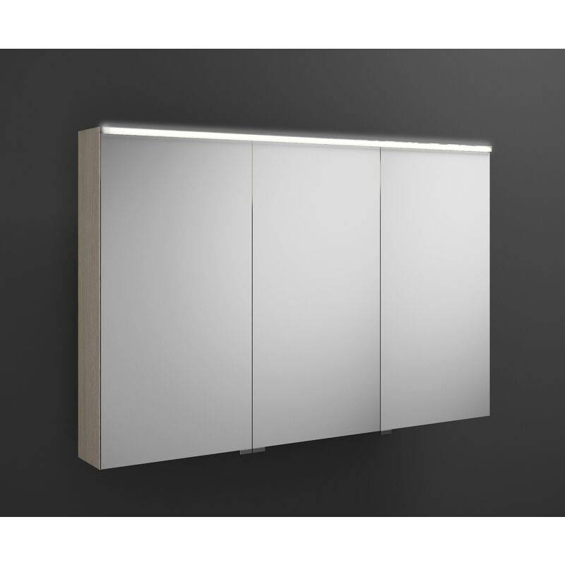 BURGBAD Armoire de toilette Eqio avec éclairage LED horizontal, charnière de