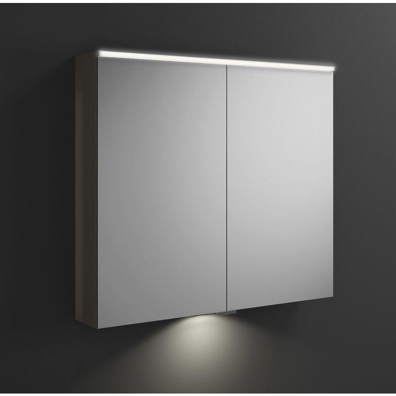 BURGBAD Armoire de toilette Eqio avec éclairage LED horizontal et éclairage LED