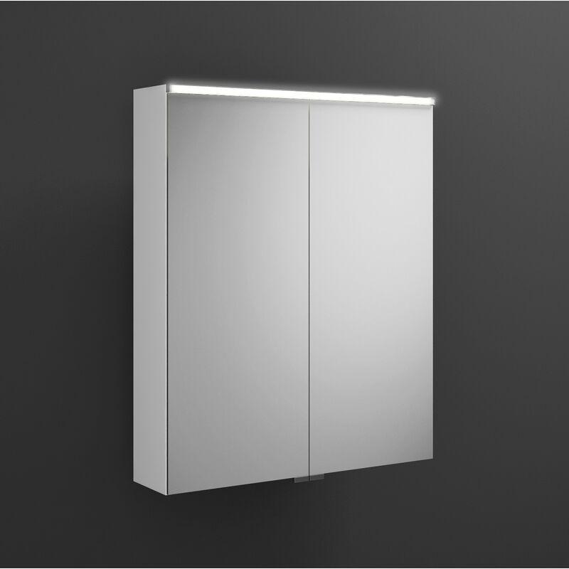 BURGBAD Armoire de toilette Eqio avec éclairage LED horizontal SPGS065, largeur
