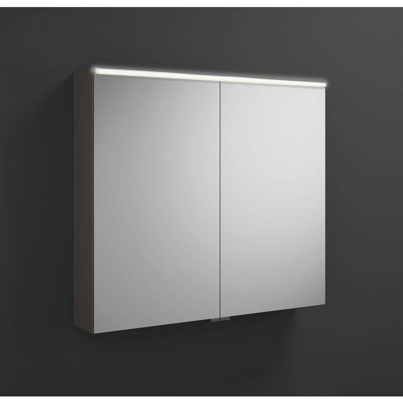 BURGBAD Armoire de toilette Eqio avec éclairage LED horizontal SPGS090, largeur