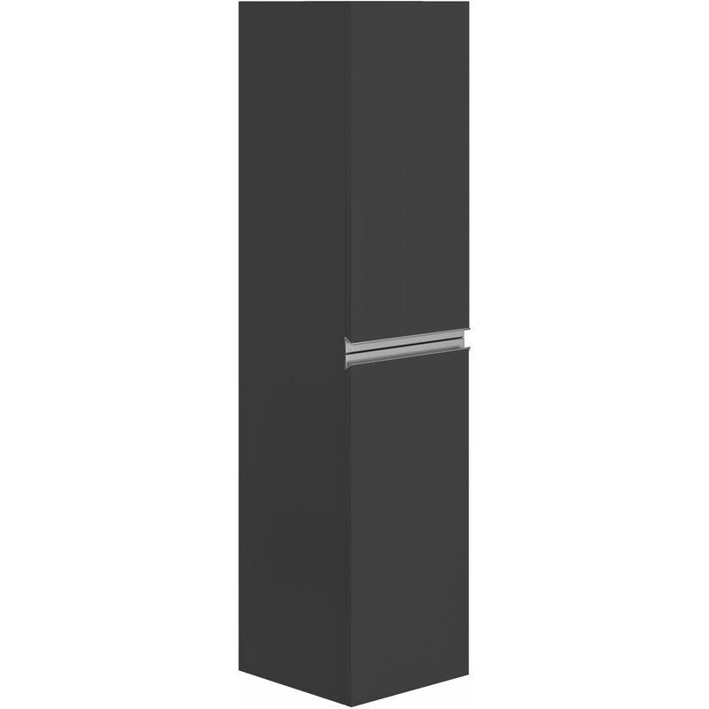 ALLIBERT Colonne de salle de bain à suspendre FOCUS gris foncé brillant - 2