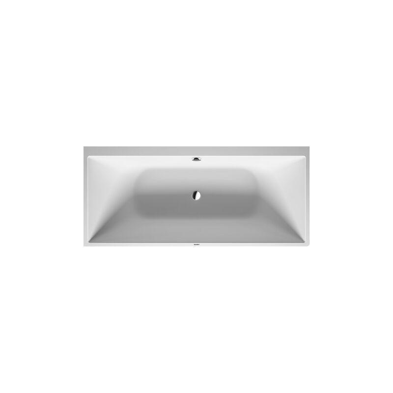 Duravit DuraSquare baignoire d'angle droite, 180x80cm, habillage sans